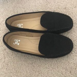 Black size 8 loafers